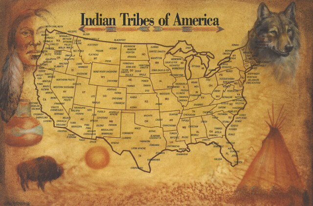 American History - Map of indian nations in the us